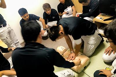 AED講習受講風景