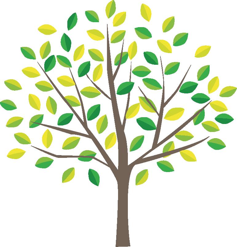 地球環境保護の象徴である木のイラスト